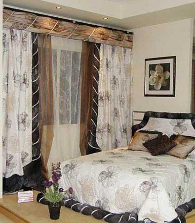 купить комплект для спальни шторы и покрывало